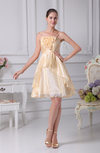 Cute A-line Sleeveless Backless Organza Flower Club Dresses