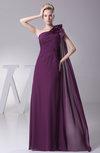 Simple Column Sleeveless Half Backless Chiffon Bridesmaid Dresses