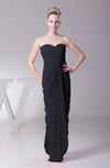 Modest Sheath Sleeveless Backless Floor Length Ruching Prom Dresses