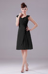 Elegant A-line Thick Straps Chiffon Knee Length Party Dresses