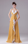 Modern Sleeveless Sweep Train Ruching Prom Dresses