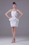 Informal Destination Sweetheart Sleeveless Taffeta Ruching Bridal Gowns