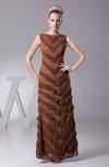Simple Column Bateau Sleeveless Floor Length Prom Dresses
