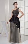 Mature Sleeveless Half Backless Floor Length Ruching Evening Dresses