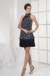 Plain Halter Sleeveless Backless Sequin Little Black Dresses