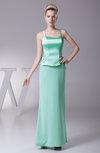 Elegant Sheath Spaghetti Sleeveless Zipper Plainness Bridesmaid Dresses