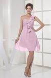Casual A-line Sleeveless Zipper Chiffon Knee Length Bridesmaid Dresses