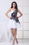 Sexy A-line Sleeveless Backless Organza Ribbon Little Black Dresses