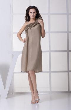 5b1be4c0a6 Sexy A-line Asymmetric Neckline Sleeveless Knee Length Flower Bridesmaid  Dresses