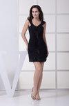 Modern Column Sleeveless Chiffon Short Ruching Homecoming Dresses
