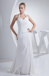 Simple Outdoor A-line Sweetheart Backless Chiffon Sequin Bridal Gowns