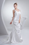 Mature Garden A-line Sweetheart Sleeveless Court Train Draped Bridal Gowns