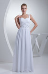 Modest Church A-line Sweetheart Sleeveless Zip up Appliques Bridal Gowns
