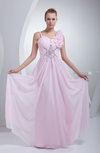 Hawaiian A-line Sleeveless Chiffon Floor Length Beaded Prom Dresses