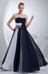Elegant A-line Strapless Sleeveless Zipper Rhinestone Graduation Dresses