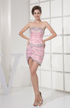 Casual Strapless Sleeveless Zip up Short Rhinestone Homecoming Dresses