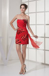 Sexy Column Sleeveless Zip up Elastic Woven Satin Rhinestone Wedding Guest Dresses