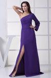 Modern A-line One Shoulder Zipper Split-Front Wedding Guest Dresses