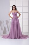 Simple Sleeveless Zipper Court Train Sash Graduation Dresses