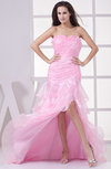 Mature Trumpet Sleeveless Backless Organza Sweep Train Party Dresses