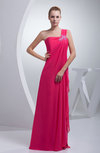 Modest A-line Sleeveless Zipper Chiffon Floor Length Bridesmaid Dresses