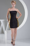 Mature Sheath Sleeveless Backless Satin Ruching Homecoming Dresses