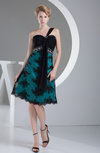 Casual A-line Zip up Satin Rhinestone Party Dresses