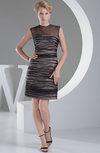 Elegant Column Sleeveless Organza Mini Sequin Graduation Dresses