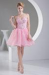Elegant A-line Sweetheart Backless Mini Rhinestone Prom Dresses