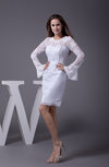 Casual Garden Long Sleeve Zip up Lace Bridal Gowns