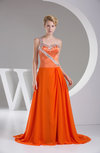 Elegant A-line Sweetheart Sleeveless Backless Brush Train Party Dresses