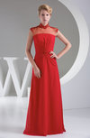 Sexy A-line Zipper Floor Length Ruching Party Dresses