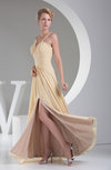 Elegant A-line Spaghetti Sleeveless Zipper Floor Length Graduation Dresses