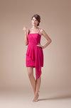 Plain Spaghetti Sleeveless Chiffon Short Plainness Bridesmaid Dresses