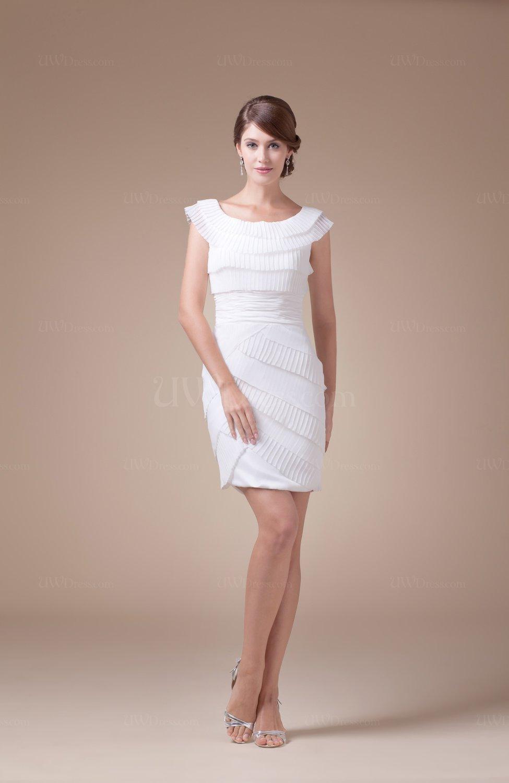 Cute Sleeveless Zip Up Mini Ruching Graduation Dresses