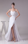 Sexy Garden A-line Sleeveless Backless Split-Front Bridal Gowns