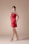Mature Sabrina Sleeveless Backless Satin Ruching Club Dresses