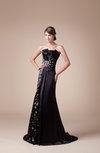 Elegant Sleeveless Zip up Elastic Woven Satin Court Train Rhinestone Graduation Dresses