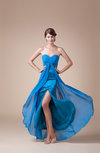 Elegant Sweetheart Sleeveless Backless Chiffon Split-Front Party Dresses