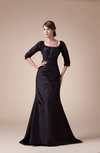 Vintage Fit-n-Flare Zip up Taffeta Sweep Train Mother of the Bride Dresses