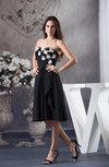 Modest A-line Strapless Chiffon Flower Bridesmaid Dresses