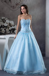 Gorgeous Garden Princess Lace up Organza Floor Length Paillette Bridal Gowns
