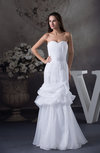 Simple Outdoor Sweetheart Lace up Organza Pleated Bridal Gowns