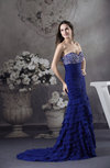 Gorgeous Mermaid Sleeveless Chiffon Court Train Tiered Prom Dresses