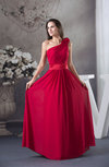 Romantic Sleeveless Zip up Chiffon Floor Length Ribbon Graduation Dresses