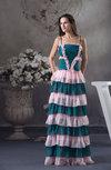 Casual Spaghetti Sleeveless Floor Length Ruching Graduation Dresses