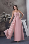 Classic Sheath Sweetheart Sleeveless Floor Length Beaded Wedding Guest Dresses