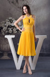 Elegant Halter Zipper Chiffon Rhinestone Homecoming Dresses