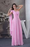 Elegant A-line Asymmetric Neckline Sleeveless Zipper Ruching Bridesmaid Dresses