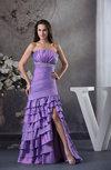 Classic A-line Strapless Backless Taffeta Floor Length Evening Dresses